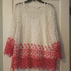 Gorgeous ombre lace Xl Charter Club top